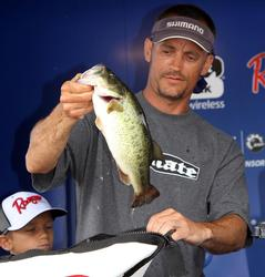 A popper and a Senko were the final-round baits for fifth-place co-angler Cort Gardner.