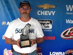 Co-angler Robert Barrett of Youngsville, N.C., won the June 21 Piedmont Division event on High Rock Lake with a 13-pound, 4-ounce limit. For his efforts, Barrett cashed a check worth over $1,800.