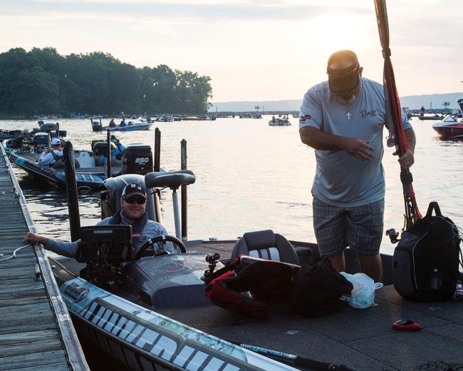 Michael Neal, who has been one of the most confident anglers leading into this event, has an iON camera rigged to capture the action.
