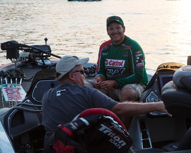 Castrol pro Philip Jarabeck is all smiles prior to day one of the final FLW Tour event of the season.