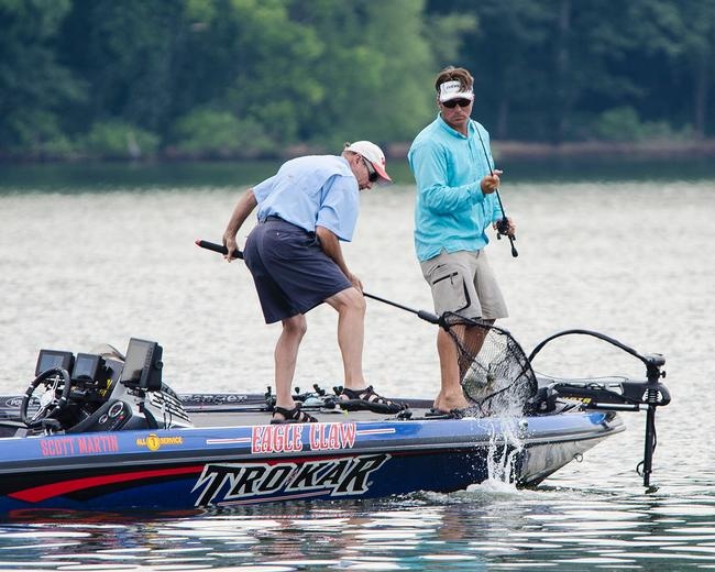 Scott Martin is working on a limit of ledge fish in excess of 19 pounds.