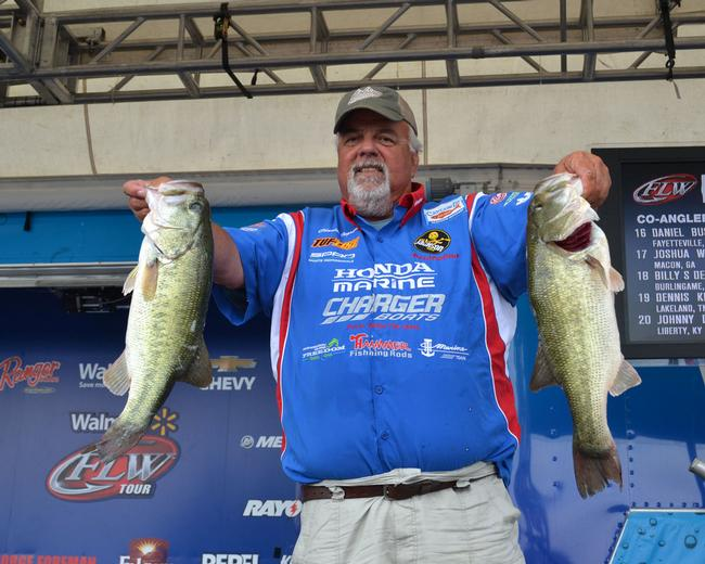 Veteran pro Charlie Ingram had one of the better limits of the day, at 22-6. It put him in fourth place.