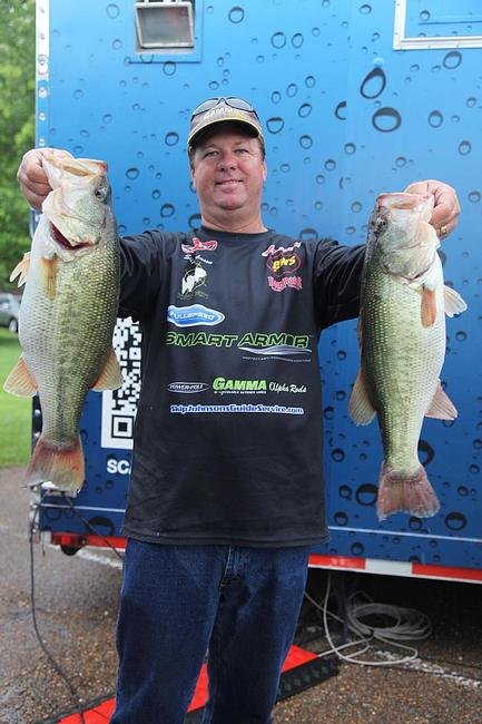 Skip Johnson actually improved his weight on day two and will hit the water on day three in 4th place.