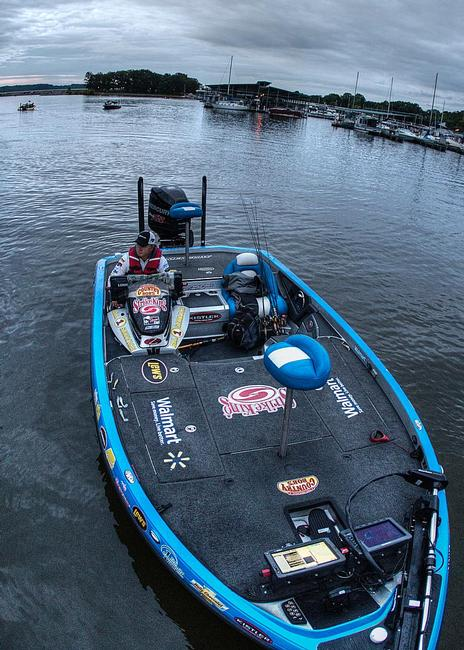 Walmart pro Mark Rose headed into the third day of competition in 18th place. He's more than capable of sacking up 25 pounds and making a big move.