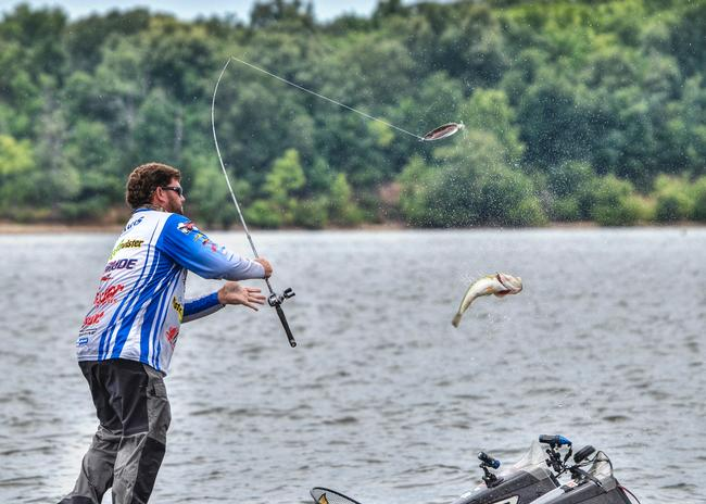 Boat flipping fish isn't as easy with the magnum spoon which Clent Davis learned the hard way.