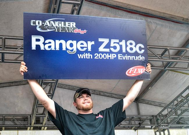 Co-angler of the Year champion Braxton Setzer was awarded a Ranger Z518c powered by a 200 horsepower Evinrude for his victory.