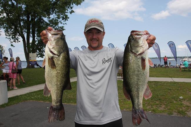 Glenn Babineau of Mechanicville, N.Y., brought in 19 pounds, 1 ounce to move into fifth place on day two.