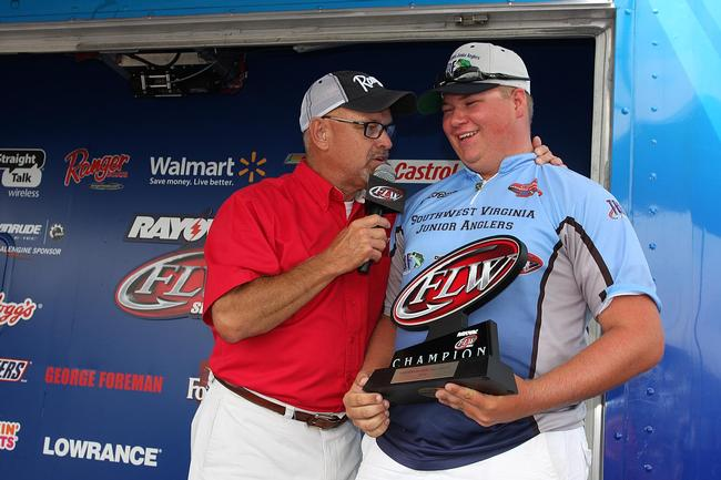 Co-angler Zachary Francis of Abingdon, Va., claimed victory with a three-day total of 46 pounds. This is his first FLW win.