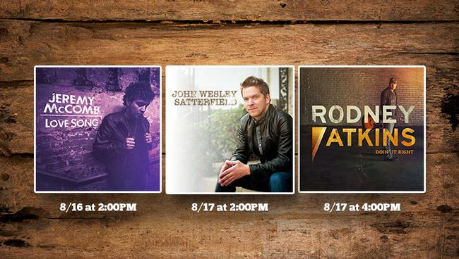 The Forrest Wood Cup will be a rockin' good time with three great country artist set to play on Saturday and Sunday.