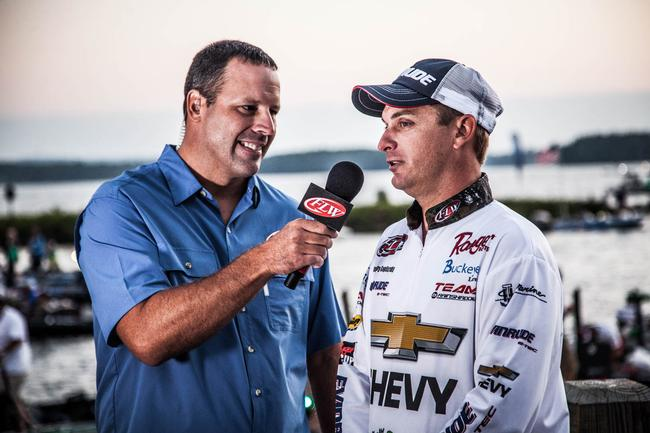Chevy pro Anthony Gagliardi broke down the lake with Chris Jones prior to takeoff. Gagliardi lives on Lake Murray and is as local as local favorites come.