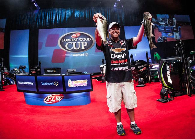 Tied for second is one of the best shallow junk-fishermen on Tour: Chevy pro Bryan Thrift.