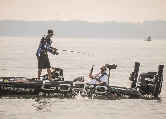 All the on the water reports indicated that Brent Ehrler whacked them on day three. He could be gunning for his second Forrest Wood Cup title tomorrow.