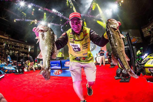 Scott Canterbury went to work on day three and hauled the day's best limit - 16 pounds - to the scale and locked him in fourth place.