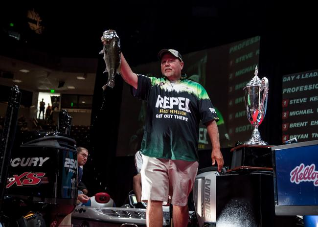 Matt Herren made a hard push at the lead with a kicker in the 6-pound range. He finished the Forrest Wood Cup in sixth and took home $30,500.