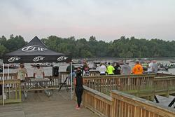 Spectators lined the dock to watch their favorite anglers take off for day one on the James River.