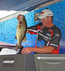 Day-two leader Bryan Schmitt earned Big Bass honors with this 7-pound, 5-ouncer.