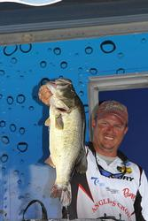 Fourth-place pro William Shelton caught a toad on day three.