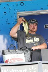 Third-place co-angler  Derek Brown moved up from seventh on the final day.
