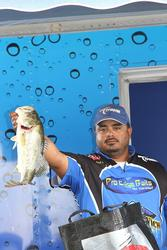 Fourth-place  Manuel Cruz caught his final-round fish on topwater frog.