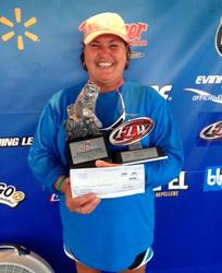 Co-angler Renee Price of Seneca, S.C., won the Sept. 6-7 Savannah River Division Super Tournament on Clarks Hill with a two-day total weight of 21 pounds, 7 ounces. She walked away with over $2,600 in prize money for her efforts.