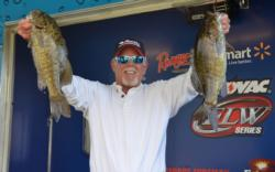 Mark Tucker scratched out a 16-2 limit despite falling water conditions to sit in second place.
