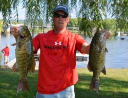 Terry Fitzpatrick rounds out the top places with his 15-13 catch of smallies.