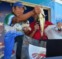 Gary Yamamoto is happy to walk away with a top-five finish on an unfamiliar body of water.