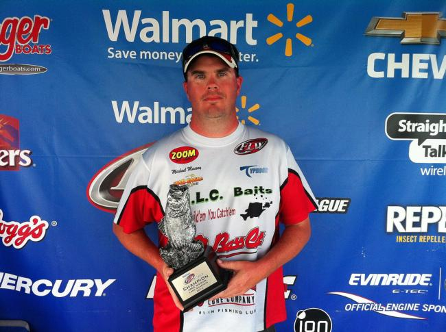 Co-angler Michael Massey of Amity, Ark., won the Sept. 20-21 Arkie Division Super Tournament on Lake Ouachita with a two-day total weight of 13 pounds, 7 ounces. Massey took home over $2,300 in winnings for his efforts.