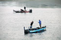 Rayburn Reservoir is on it's way back to prime fishing. Shortly after takeoff Rayovac anglers were already putting fish in the boat.