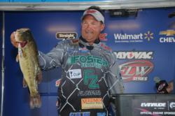 Stephen Johnston of Hemphill, Texas, is in third place after day one with a limit of bass weighing 17 pounds, 1 ounce.