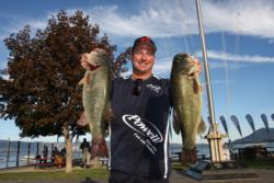 Mark Crutcher of Lakeport, Calif., grabbed third place on day one of the Rayovac FLW Series event on Clear Lake.