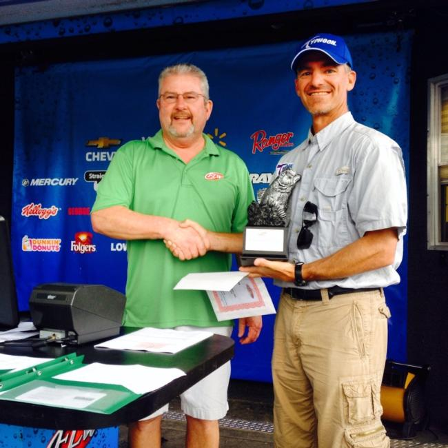 Mark DeHart of Brownstown, Indiana, won the co-angler division with a three-day total of seven bass totaling 24 pounds, 14 ounces. For his efforts, DeHart took home a Ranger Z518C with a 200-horsepower Evinrude or Mercury outboard along with a berth in the 2015 BFL All-American tournament.