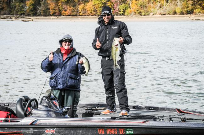 Birge and Ryan Bowman, his co-angler, were both catching them on day three of the Rayovac FLW Series Championship on Wheeler Lake.