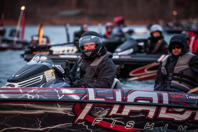 Randall Tharp says dead grass holds extra heat and provides a safe haven for bass during severe cold fronts.