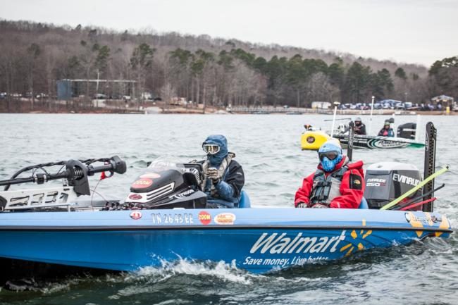 Walmart team pro Wesley Strader knows all too well that anglers can indeed be productive catching fish on a topwater in winter.
