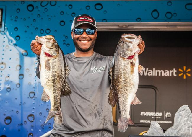 Thanks to a 25-pound, 15-ounce limit on day two, Mark Daniels Jr. climbed into the top 10.