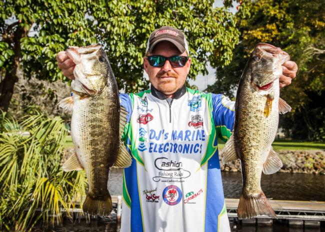 Tennessee pro Hensley Powell has quietly fished his way into contention with a two-day total of 35 pounds, 11 ounces. He's in fifth.