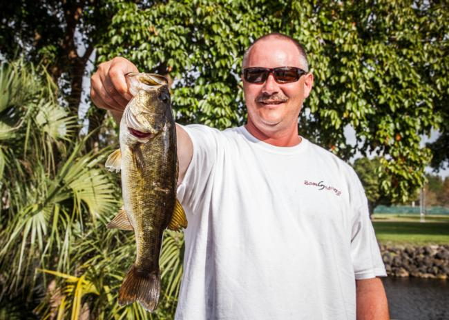 Leading the co-angler division for the second consecutive day is Tennessean Daniel Beebe.