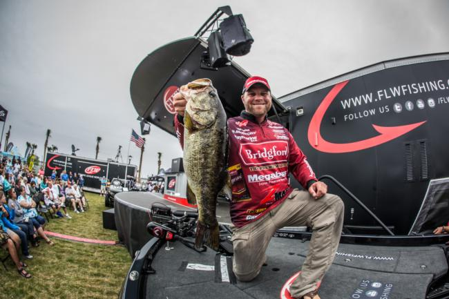 Bridgford pro Luke Clausen is in fifth place heading into the weekend.