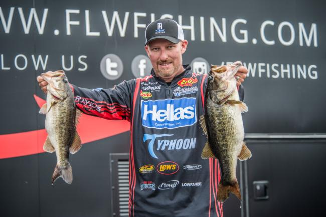 Pro Wesley Strader weighed 21-5 on day three of the FLW Tour on Lake Toho to land in second place at the season opener.