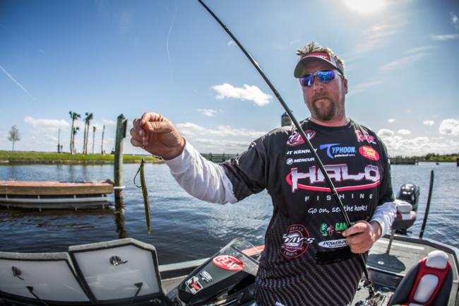 JT Kenney used a Gambler Fat Ace on a Texas rig and a Nichols Lures Pulsator Spinnerbait to earn the win on Toho.