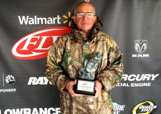 Co-angler Bobby Liles of Texarkana, Ark., won the March 14 Arkie Division event on Greers Ferry with four bass weighing 6 pounds, 8 ounces. For his efforts, Liles cashed a check worth over $2,100.