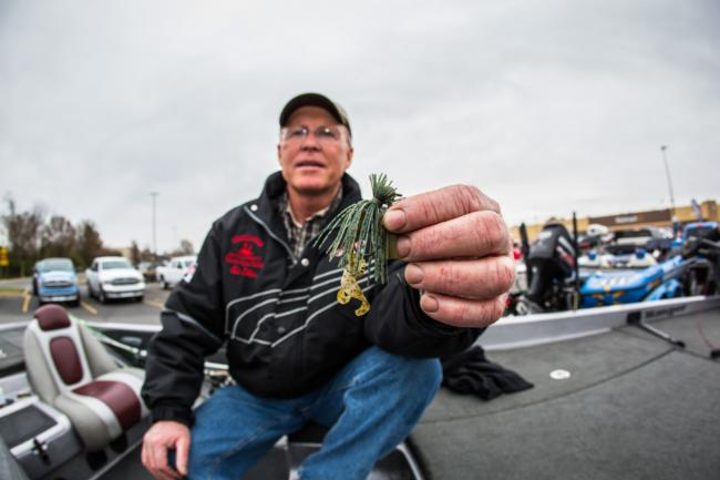 A 5/16-ounce Rock Jig and a red-colored Rat-L-Trap accounted for most of Ed Oilar's weight.