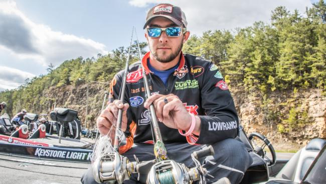 After leading for two days, Zack Birge fell to sixth on the final day. He caught largemouths on a 1/4-ounce white Santone Lures buzzbait and a SPRO Bronzeye frog throughout the tournament.