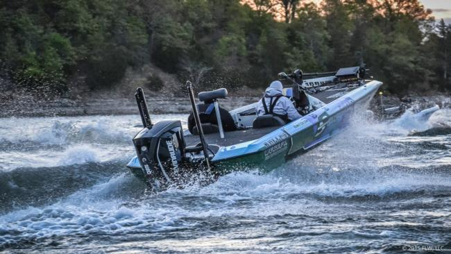 Pro Ramie Colson is off and running on day one of the FLW Tour on Beaver Lake. He finished 72nd last year at Beaver and is looking for a little redemption.