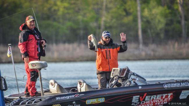 That makes four for the Bentonville, Ark., pro Greg Bohannan on day one of the FLW Tour on Beaver Lake.
