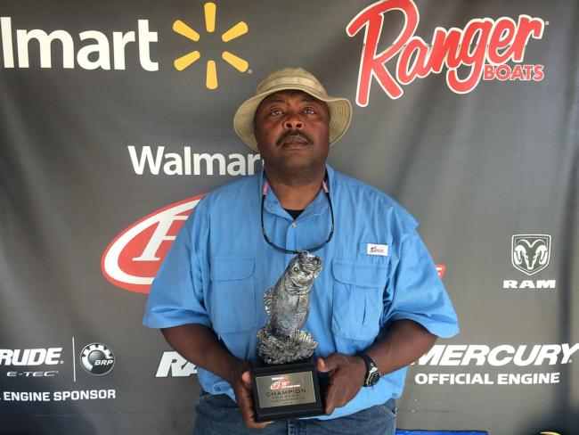 Co-angler Herbert Kimbrough of North Little Rock, Ark., won the May 2 Arkie Division event on Lake Dardanelle with 11 pounds, 14 ounces. He was awarded over $1,900 for his efforts.