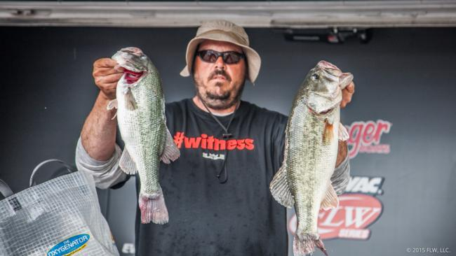 David Fields of Murray, Ky., finished day two in fifth place with 44 pounds, 14 ounces.
