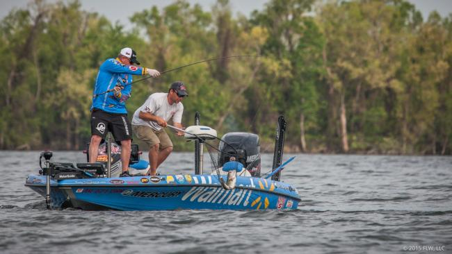 Walmart pro Mark Rose is making a charge on the final day. He'll need this fish and more to take down Randy Haynes.