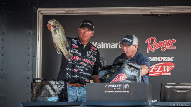 Randy Haynes fell to second after leading on day two. His catch totaled 69 pounds, 12 ounces.